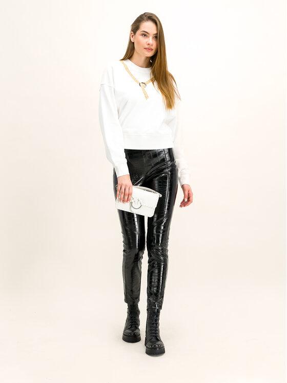 Pinko Pinko Kalhoty z imitace kůže 20192 PBK2 1B13XW.7743 Černá Regular Fit