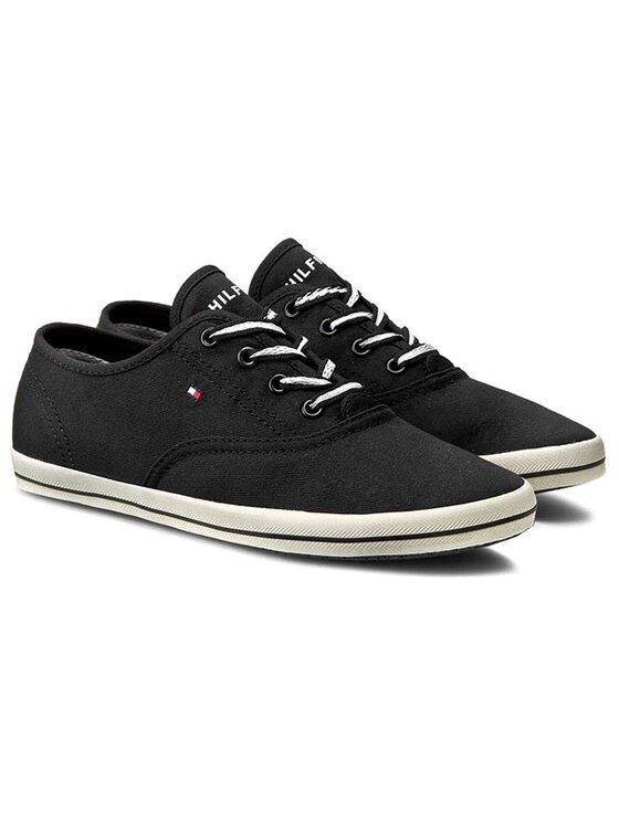 Tommy Hilfiger Tommy Hilfiger Sneakers aus Stoff Victoria 1D FW56820836 Schwarz