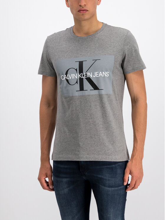 Calvin Klein Jeans Calvin Klein Jeans T-Shirt Core Monogram Box Logo J30J307842 Grau Regular Fit