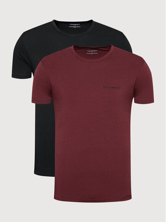 Emporio Armani Underwear 2 marškinėlių komplektas 111267 1A717 12976 Juoda Regular Fit