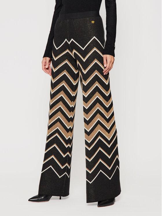 TWINSET TWINSET Pantaloni din material 202TT3063 Negru Regular Fit