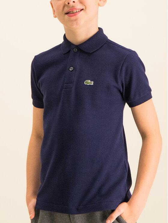 Lacoste Lacoste Тениска с яка и копчета PJ2909 Тъмносин Regular Fit