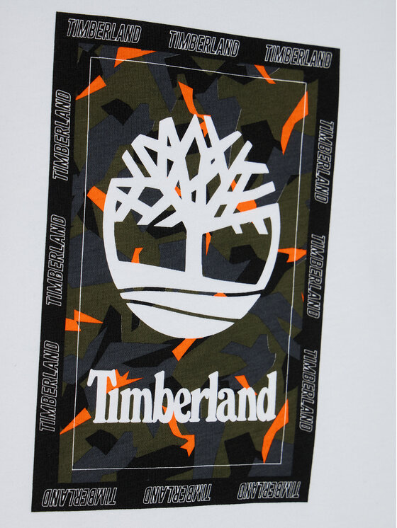 Timberland Timberland Bluzka T25R13 S Biały Regular Fit