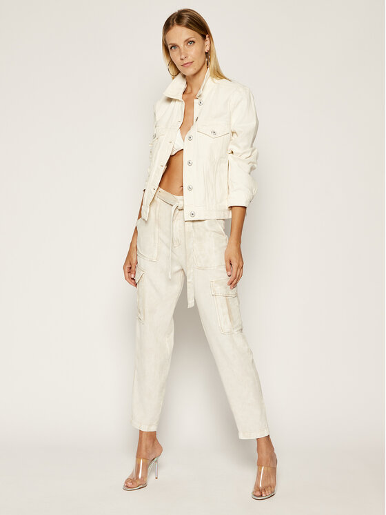 Guess Guess Jeansy Silvia Cargo W02B06 WCRT1 Szary Regular Fit