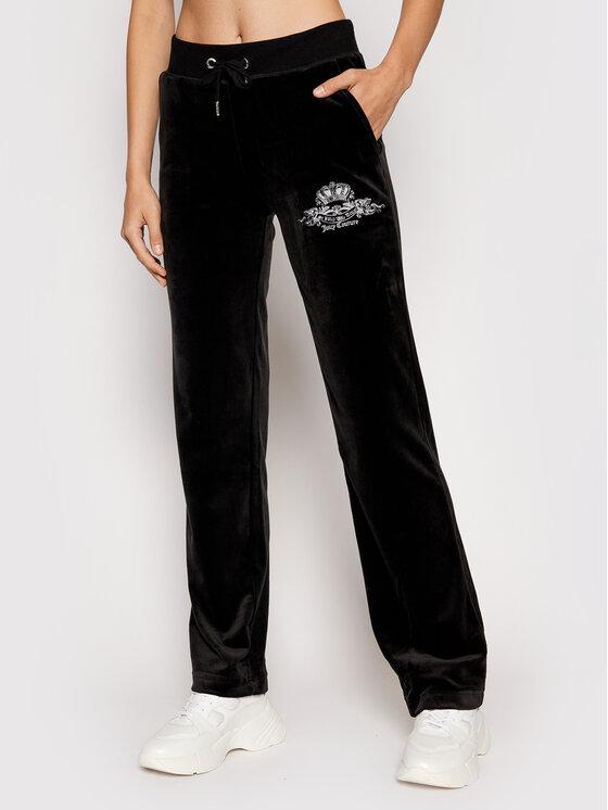 Juicy Couture Sportinės kelnės Crest JCWB121089 Juoda Regular Fit