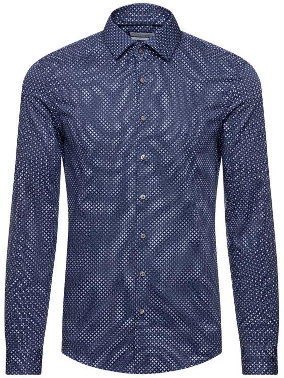 Calvin Klein Calvin Klein Camicia Printed Easy Iron K10K104593 Blu scuro Slim Fit