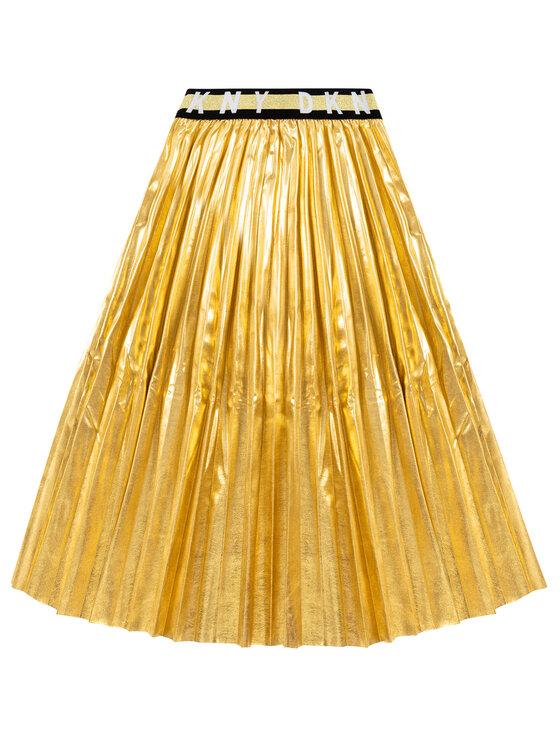 DKNY DKNY Sukňa D33550 Zlatá Regular Fit
