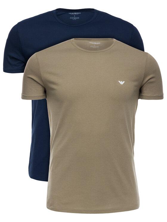 Emporio Armani Underwear Emporio Armani Underwear Komplet 2 t-shirtów 111267 9P722 58635 Kolorowy Regular Fit