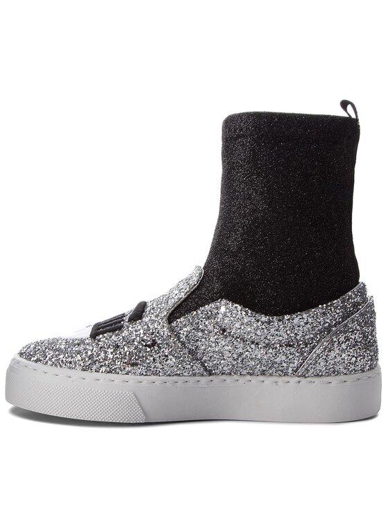 Chiara Ferragni Chiara Ferragni Sneakersy 18AI-CF2094 Stříbrná