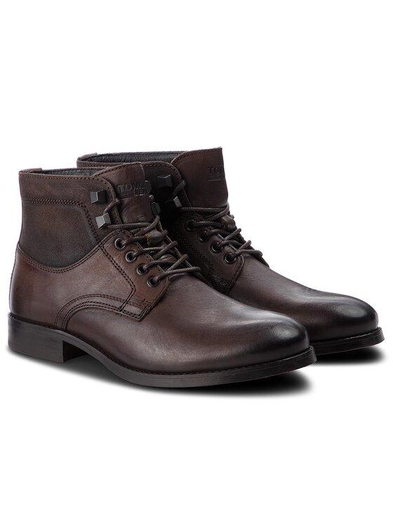 Tommy Jeans Tommy Jeans Trzewiki Casual Leather Boot EM0EM00141 Brązowy