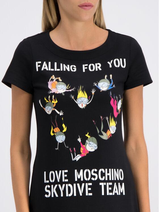 LOVE MOSCHINO LOVE MOSCHINO Rochie de zi W592906E1958 Negru Regular Fit