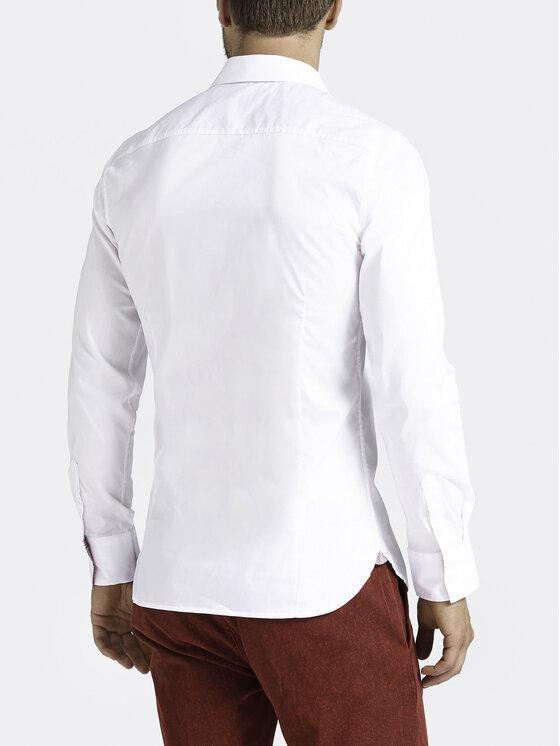 Guess Guess Košeľa M93H41 W7ZK0 Biela Super Slim Fit