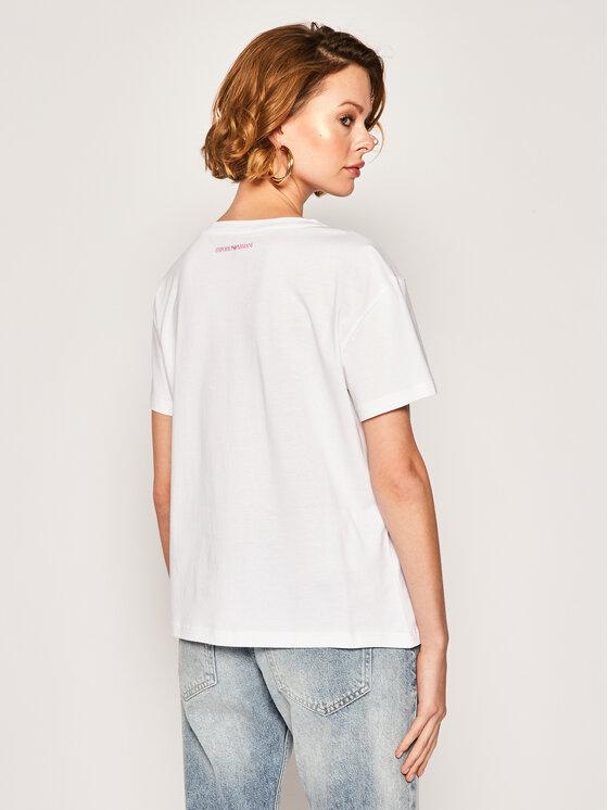 Emporio Armani Emporio Armani T-Shirt 3H2T7M 2J53Z 0100 Biały Regular Fit