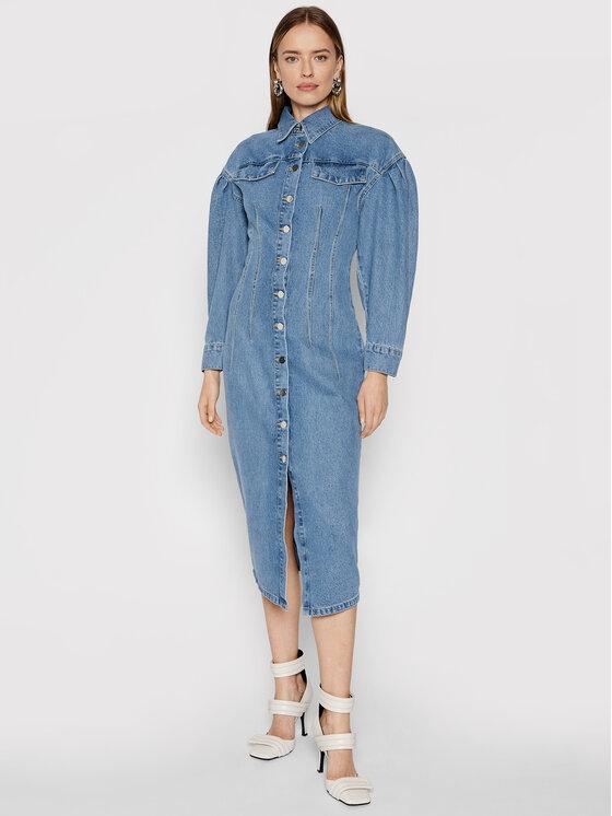 Remain Džinsinė suknelė Edinisa RM530 Mėlyna Regular Fit