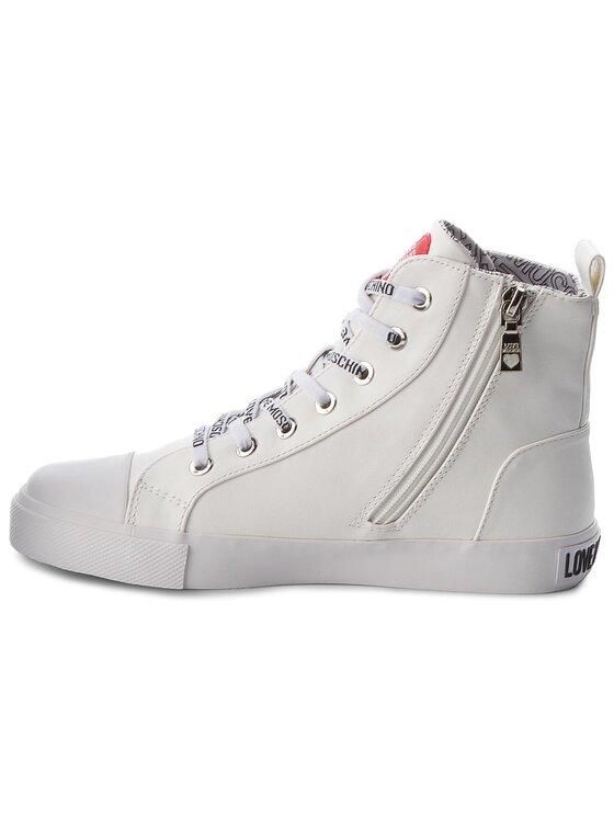 LOVE MOSCHINO LOVE MOSCHINO Sneakers aus Stoff JA15023G16ID0100 Weiß