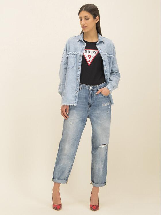Guess Guess T-Shirt Basic Triangle Tee W01I98 JA900 Černá Slim Fit