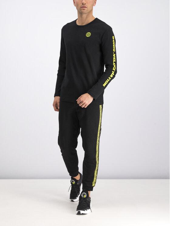 MCQ Alexander McQueen Marškinėliai ilgomis rankovėmis 463570 RNT03 1000 Juoda Regular Fit