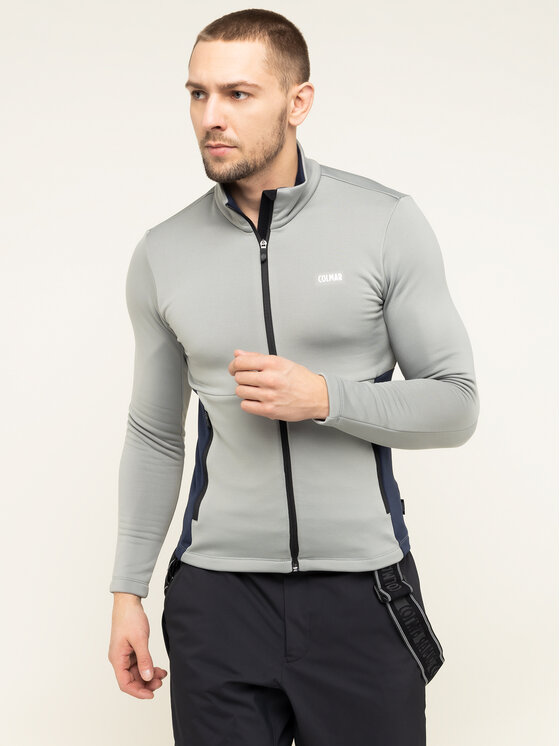 Colmar Colmar Felpa tecnica Zip-Up Thermal Ski 8377 9UE Grigio Slim Fit