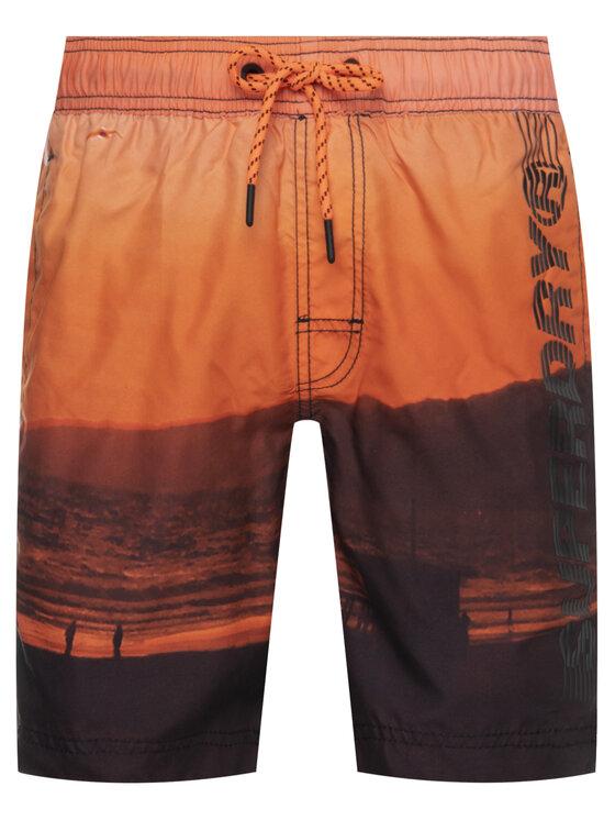 Superdry Superdry Szorty kąpielowe State Volley M3010010A Pomarańczowy Regular Fit