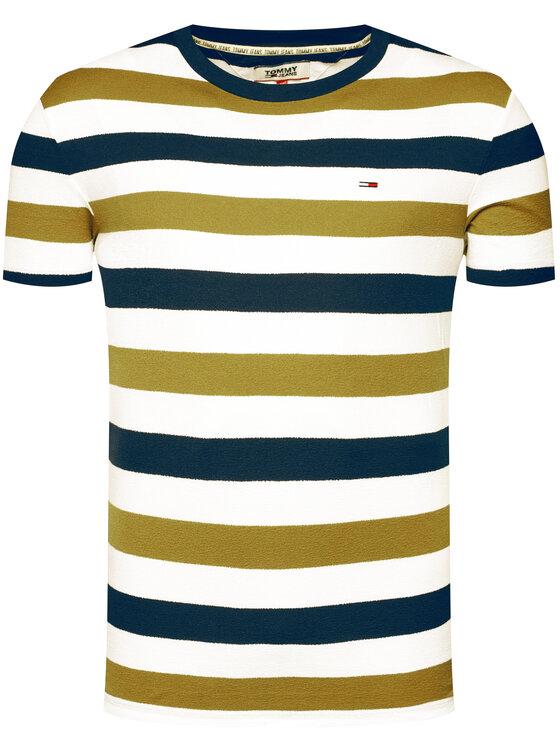 Tommy Jeans Tommy Jeans T-Shirt Tjm Seasonal Stripe DM0DM07834 Πράσινο Regular Fit