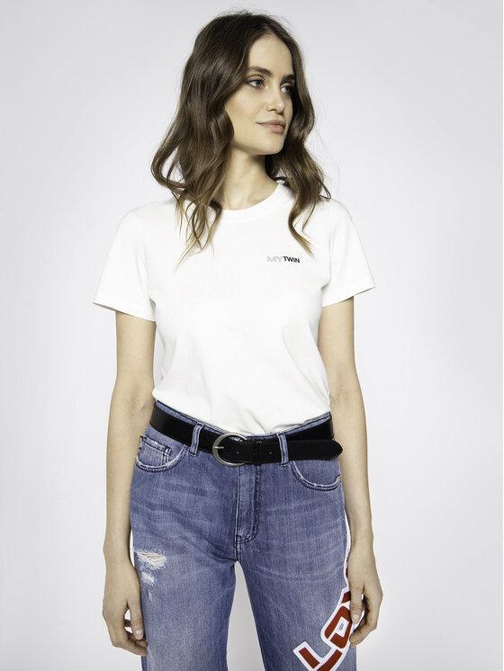 My Twin Marškinėliai 201MP232B Balta Slim Fit