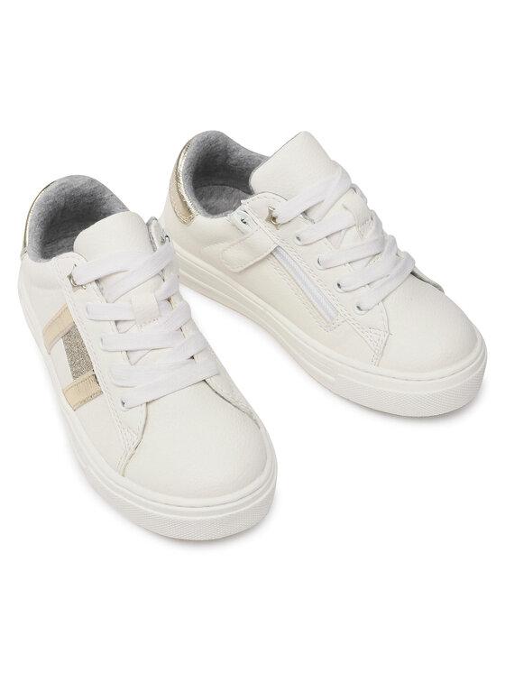 Tommy Hilfiger Tommy Hilfiger Sneakersy Low Cut Lace-Up Sneaker T3A4-31023-0813 M Biały