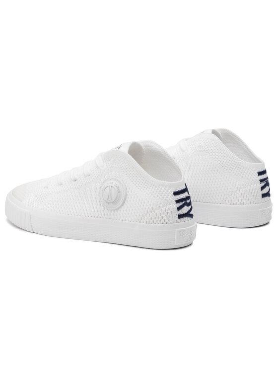 Pepe Jeans Pepe Jeans Sneakers aus Stoff Industry Knit Junior PBS30403 Weiß