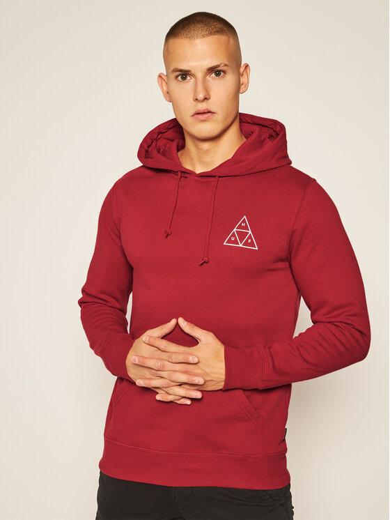 HUF Džemperis Essentials PF00100 Raudona Regular Fit