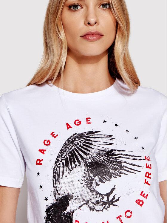 Rage Age Rage Age T-Shirt Freedom 2 Biały Regular Fit