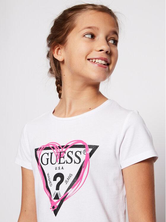 Guess Guess T-Shirt J1RI04 K6YW1 Biały Regular Fit