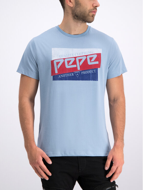 Pepe Jeans Pepe Jeans Marškinėliai Dominik PM506545 Mėlyna Regular Fit