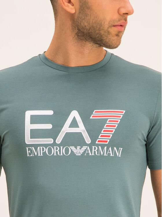 EA7 Emporio Armani EA7 Emporio Armani Póló 3HPT05 PJ03Z 1858 Zöld Regular Fit