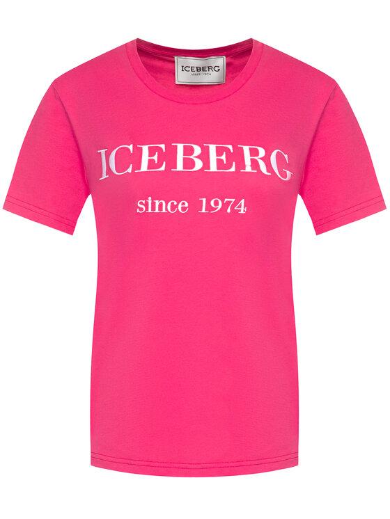 Iceberg Iceberg Marškinėliai 20EI1P0F09A6331 Rožinė Regular Fit