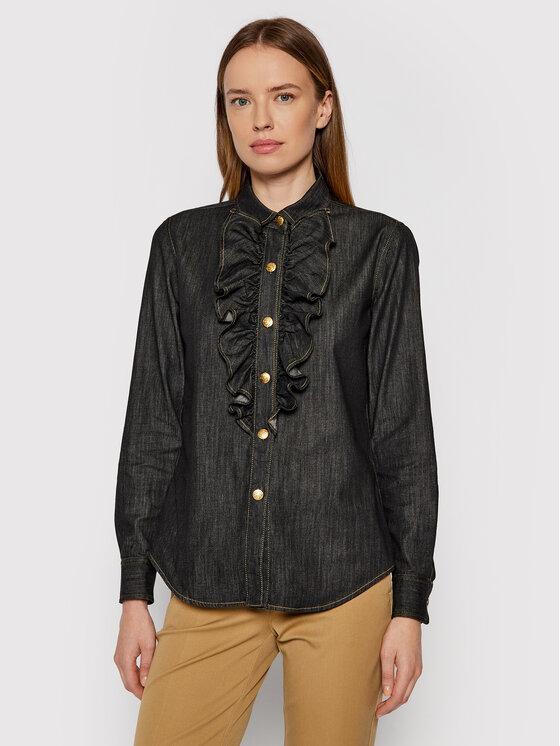 Luisa Spagnoli džinsiniai marškiniai Level 538524 Pilka Regular Fit