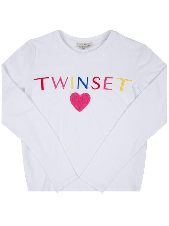 TwinSet TwinSet Блуза 999GJ2010 Бял Regular Fit