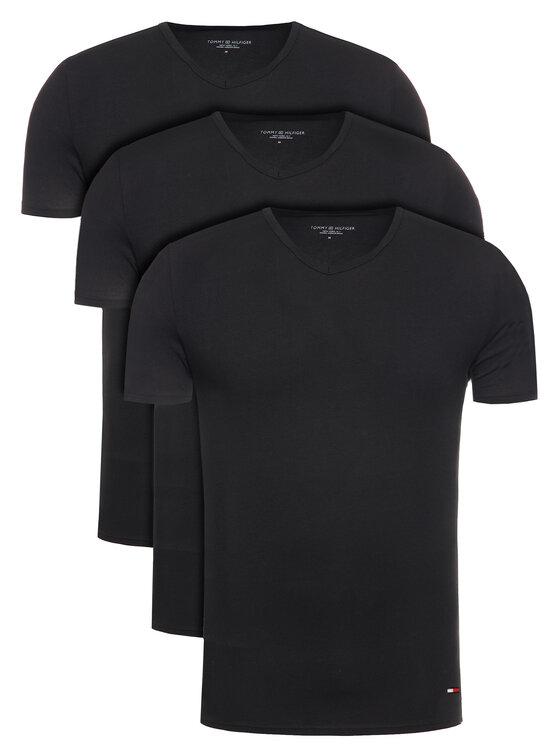 Tommy Hilfiger 3 marškinėlių komplektas 2S87903767 Juoda Regular Fit