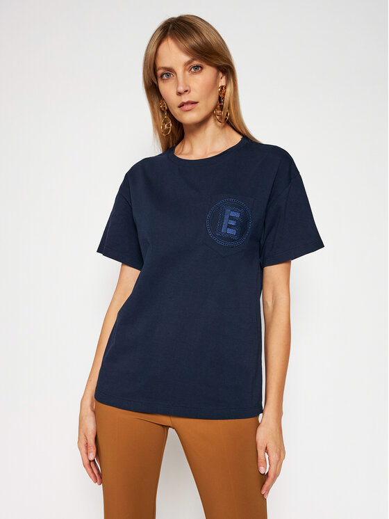 Ermanno Firenze Marškinėliai TS11JCO Tamsiai mėlyna Regular Fit