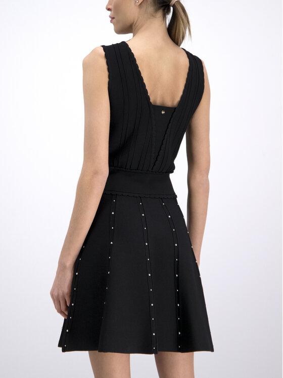 Silvian Heach Silvian Heach Коктейлна рокля Ussera CVP19004VE Черен Regular Fit