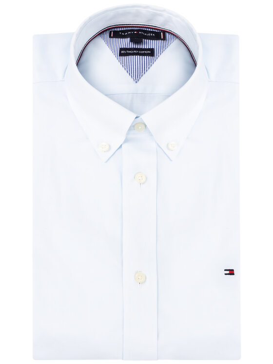 Tommy Hilfiger Tommy Hilfiger Košile Natural Soft End On End MW0MW12736 Modrá Regular Fit