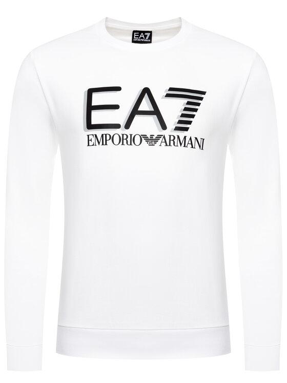 EA7 Emporio Armani EA7 Emporio Armani Mikina 3HPM60 PJ05Z 1100 Biela Regular Fit