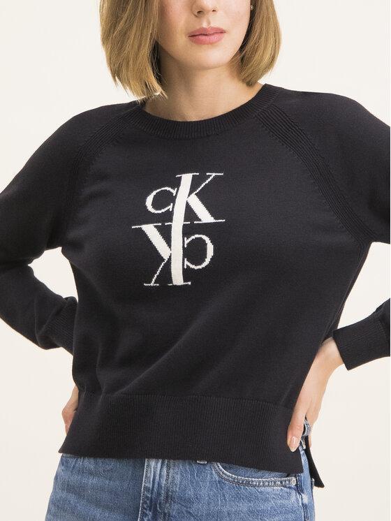 Calvin Klein Jeans Calvin Klein Jeans Sweter J20J213181 Czarny Regular Fit