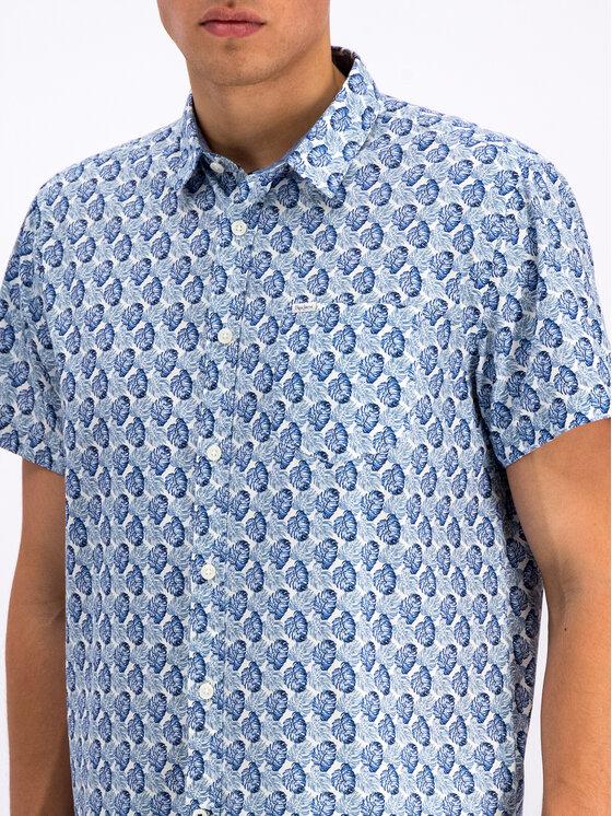 Pepe Jeans Pepe Jeans Marškiniai Carter PM305802 Mėlyna Regular Fit