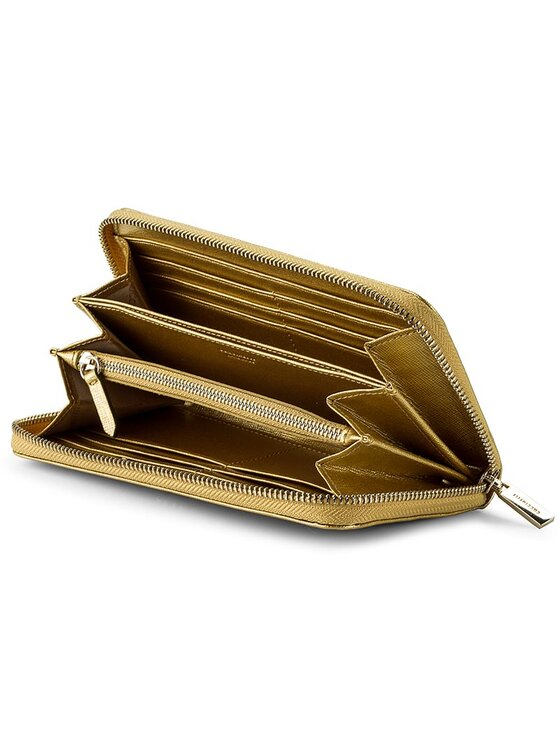 Coccinelle Coccinelle Duży Portfel Damski AW1 Metallic Saffiano E2 AW1 11 64 01 Złoty