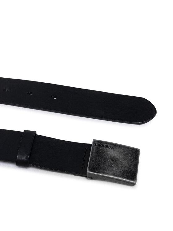 Wrangler Wrangler Pasek Męski Plate Buckle Belt W0E3U1100 Czarny