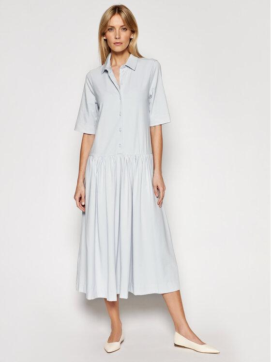 Max Mara Leisure Marškinių tipo suknelė Ceci 36210216600 Pilka Regular Fit