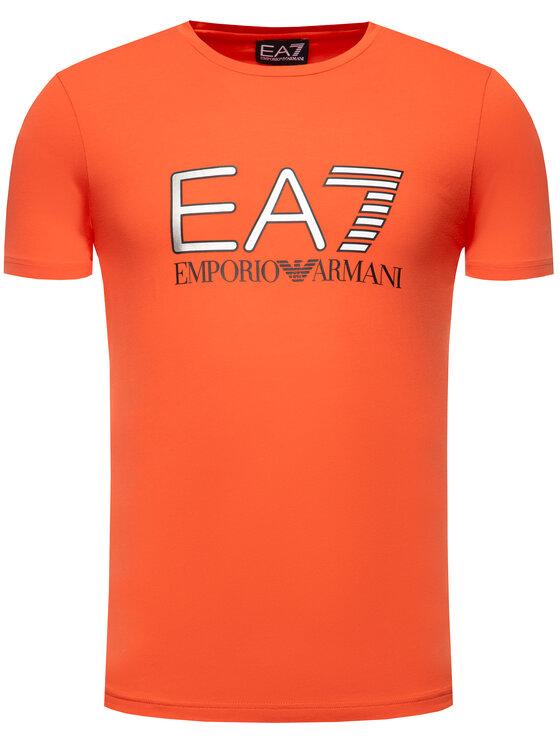 EA7 Emporio Armani EA7 Emporio Armani Tricou 3HPT05 PJ03Z 1453 Roșu Regular Fit