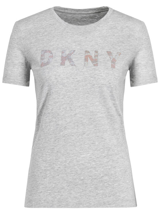 DKNY DKNY T-Shirt P9BH9AHQ Šedá Regular Fit