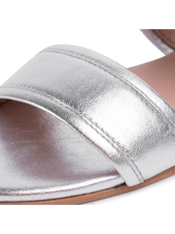 TwinSet TwinSet Șlapi Sandalo 201TCP130 Argintiu