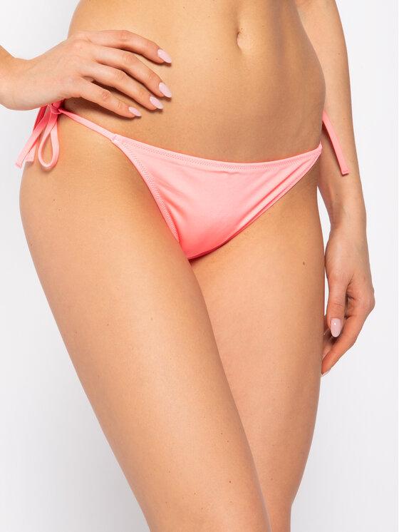 Calvin Klein Swimwear Bikinio apačia Cheeky String Side Tie KW0KW00936 Rožinė