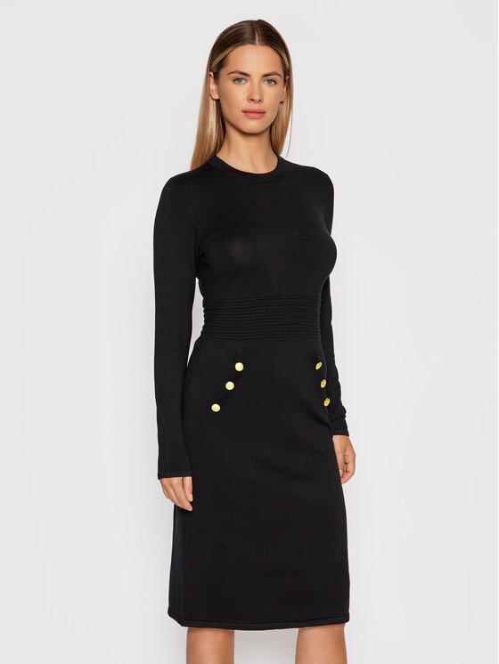 DKNY DKNY Džemper haljina DD0HN37A Crna Regular Fit